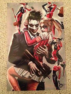 Greg Horn Harley Quinn Joker Fine Art Print Signed DC Batman | eBay