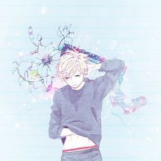 Mamura Daiki - I love this so much the colours are so pastel and coot Cute Anime Boy, Anime Guys, Old Anime, Anime Art, Mamura Daiki, Daytime Shooting Star, Pastel Goth Art, Tsubaki Chou Lonely Planet, Anime Tumblr