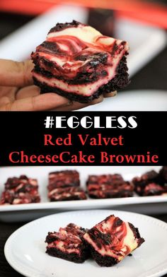Brownie is a flat, baked dessert. It is cross between a cake and soft cookie in texture and comes in a variety of forms. Depending on its density, it may be either fudgy or cakey. Cheesecake is made with cream cheese. Today I made Eggless Red Velvet Cheesecake Brownie. It tastes so so so good that you can't stop eating it. It just melts in your mouth. It will be ready in no time. The preparation time is hardly 15 to 20 minutes and baking is 30 to 35 minutes.