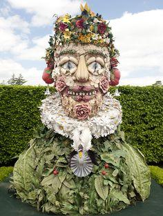 Philip Haas, Spring. Painted fiberglass sculpture  inspiration Giuseppe Arcimboldo. The New York Botanical Garden 2013