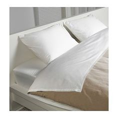 "IKEA - SÖMNTUTA, Sheet set, Queen, , Feels crisp and cool against your skin as it's made of cotton percale, densely woven from fine yarn.Extra soft and durable quality since the bedlinen is densely woven from fine yarn.Fits mattresses with a thickness up to 13"" since the fitted sheet has elastic edging."