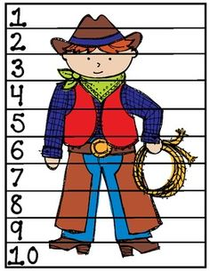 "Wild West ""Count By"" Puzzles and Wild West Activities, Desert Crafts, Counting By 10, Wild West Theme, Maze Puzzles, Find 5, Jad, Rodeo Cowboys, Western Theme"