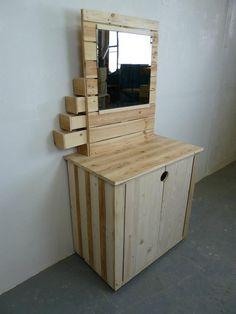 Pallet dresser #Dresser, #Pallets