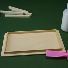 Make Simple Tables for Dolls House or Scale Model Scenes: Glue the Table Apron to the Underside of the  Miniature Table Top