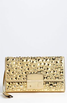 Michael Kors 'Gia' Studded Leather Clutch available at #Nordstrom