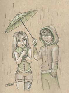 Cinder and Kai for tlc ship weeks day 2: Rainy Day by Julie Crowell