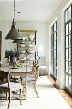 Style At Home, Modern Farmhouse, Farmhouse Table, Farmhouse Decor, Southern Farmhouse, Farmhouse Design, Dining Room Inspiration, Deco Design, Dining Room Design