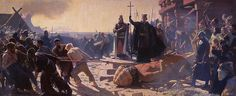 The Taking Of Arkona In 1169. King Valdemar And Bishop Absalon