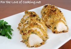 Mustard herb-crusted chicken breasts | substituted spicy brown mustard ...
