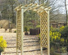 Country Arch - Here at Earnshaws Fencing Centre you can browse our unique collection of high quality garden furniture. Garden Fencing, Fence, Garden Arches, Garden Furniture, Arbour, Backyard, Outdoor Structures, Wakefield, Oasis