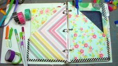Cheap DIY Planner Tutorial I only spent $2 on new stuff to make this planner, everything else was from my stash and I bet you have most of these supplies too...