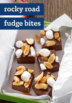 Rocky Road Fudge Bites — Rocky road isn't just for ice cream. Add marshmallows and peanuts to chocolate fudge to get that delicious mix of flavors in a chewy, crunchy treat. Enter the Share it. Pin it. Win it. Sweepstakes! Pin your favorite holiday recipe or upload your own for a chance to win a tablet! Visit www.kraftrecipes.com/shareit for complete details. #PintoWinSweepstakes