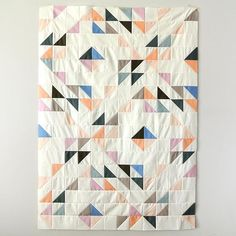 I can't think of a good name for this new design. Any ideas? #suzyquiltspatterns #birchfabrics #organiccotton