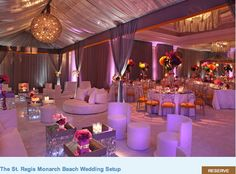 DESIGN IDEA: Venue space created for a dinner and lounge environment.