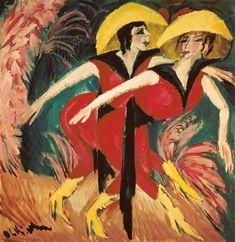 """ernstludwigkirchner: """"Entartete Kunst E.L. Kirchner """"Die roten Tänzerinnen"""" Ausstellungsraum G2. N.16230 """""""