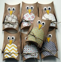 How to recycle the toilet paper roll – original ideas – Archzine. Toilet Roll Craft, Toilet Paper Roll Crafts, Owl Crafts, Diy And Crafts, Arts And Crafts, Diy For Kids, Crafts For Kids, Paper Towel Tubes, Pillow Box