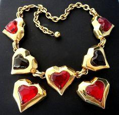 Divine LES BERNARD Signed Necklace & Earrings by LandOfVastDesires