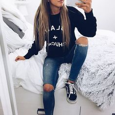 f6756f21501e Fall Style l Casual Fashion Sweaters For School Cute Comfy Cozy Casual For  Teens