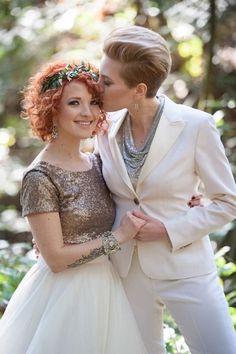 Looks hermosos para novias originales.