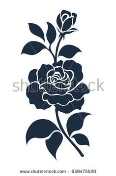 Find Flower Motif Sketch Design stock images in HD and millions of other royalty-free stock photos, illustrations and vectors in the Shutterstock collection. Thousands of new, high-quality pictures added every day. Stencil Rosa, Stencil Art, Flower Stencils, Flower Silhouette, Silhouette Art, Stencil Patterns, Stencil Designs, Flower Motif, Stencil Printing