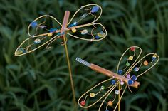 Let your imagination take off with this DIY yard art project that turns copper wire and beads into cute critters for your garden.