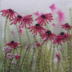 Machine embroidery www.onthewildside.co.uk