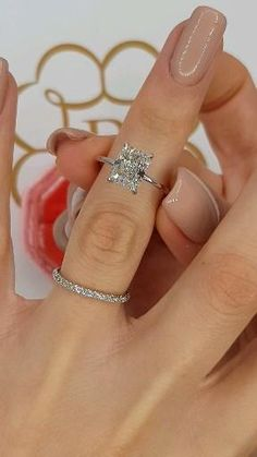 - - This super attractive ring has a carat main stone graded at . Beautiful Engagement Rings, Halo Diamond Engagement Ring, Diamond Rings, Diamond Cuts, Emerald Cut Engagement, Emerald Cut Rings, Diamond Anniversary Rings, Diamond Jewelry, Dream Ring