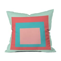 Inside the Color Block Throw Pillow
