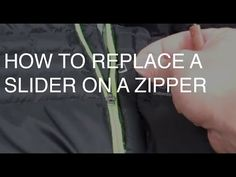 How to Replace a Broken SLIDER on a JACKET Zipper - YouTube / https://www.youtube.com/watch?v=OgtkKjp61Bk