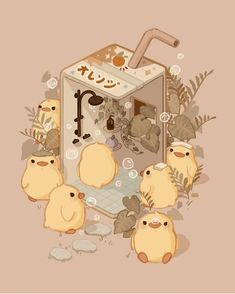Cute Animal Drawings Kawaii, Cute Little Drawings, Cute Drawings, Cute Anime Wallpaper, Cute Cartoon Wallpapers, Animes Wallpapers, Arte Do Kawaii, Kawaii Art, Kawaii Doodles