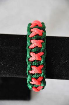 Just Custom Jewelry - Listings View Think Green Xoxo Paracord Bracelet.  #handmadebracelet #bracelet #customjewelry #handmadejewelry #jewelry