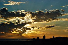 Sunrise over Port Elizabeth, South Africa.