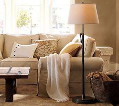 Sutter Adjustable Lever Floor Lamp Base @ Pottery Barn (for the family room)
