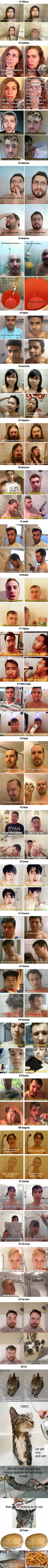 25 Ridiculously stereotypical memes reveal how different people take showers (Favorite Meme)