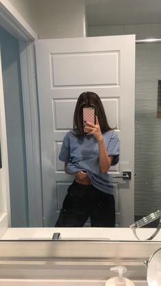 Teen girl mirror selfies