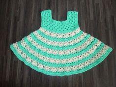 Home made gehaakt jurkje mint groen/crème: http://link.marktplaats.nl/m962545644