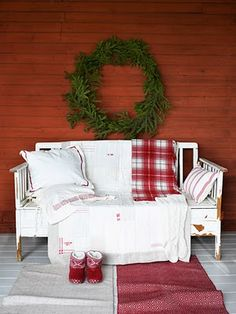 Front porch From: A Whole Lotta Love, please visit Christmas Porch, Merry Little Christmas, Plaid Christmas, Country Christmas, Christmas Photos, All Things Christmas, White Christmas, Christmas Holidays, Christmas Decorations