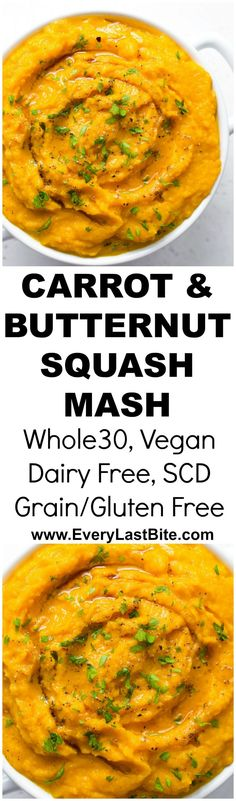 Paleo Whole 30, Whole 30 Recipes, Clean Eating Recipes, Healthy Dishes, Food Dishes, Food Food, Mashed Butternut Squash, Buttercup Squash, Mash Recipe