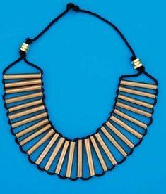 DIY Egyptian collar necklace