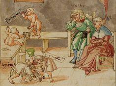 """""""Nachsichtige Eltern; unerzogene Kinder."""" Manuscript title: Johann von Schwarzenberg. 1530/40"""