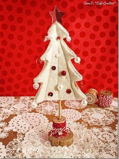 cafe creativo - sizzix big shot - felt christmas tree