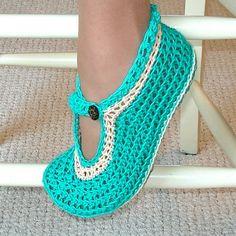 Crocheted Moccasin Slippers - Free Crochet Pattern