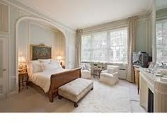 a gorgeous bedroom from a townhouse for sale in manhattan French Bed, White Bedroom, Luxurious Bedrooms, Victorian Homes, Bedroom Decor, Bedroom Ideas, Alcove, Townhouse, Restoration