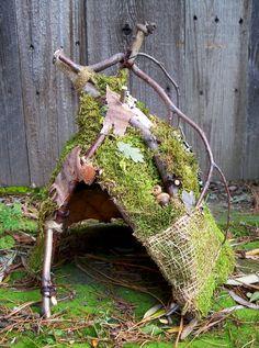 Garden Fairy Hut, Woodland Fairy House, Garden Decor, Fairy Display Photo Prop on Etsy, $48.00