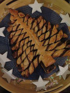 Sapin de Noël feuilleté au chocolat recettes de fetes 3 theme 15 chocolat biscuits