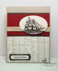 The Open Sea, Fun with Card Kits - More Masculine by TamiC - Cards and Paper Crafts at Splitcoaststampers