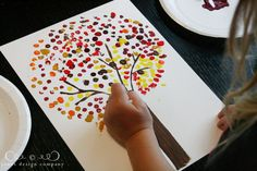 simple craft for kids: autumn dot trees | jones design company
