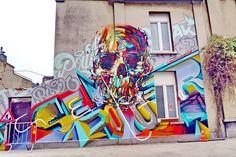 Wall paints, Muurschilderingen, Peintures Murales,Trompe-l'oeil, Graffiti, Murals, Street art.: Antwerp - Belgium Rizeone,Semor,Pout&Locatelli