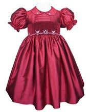 Stunning red christmas silk flower girl dress – Carousel Wear