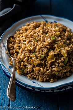 Soy Sauce Fried Rice (酱油炒饭) - A true Chinese classic. Slightly indulgent. - Salads and Side Dishes Recipes - Rice Side Dish Recipes, Asian Recipes, Healthy Recipes, Ethnic Recipes, Dishes Recipes, Recipies, Halal Recipes, Chinese Recipes, Rice Recipes